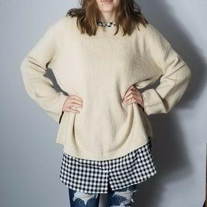 Caslon Slouchy Boyfriend Oversize Cream Sweater
